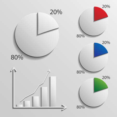 infographic 20 percent Illustration