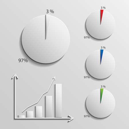infographic 1 percent Illustration