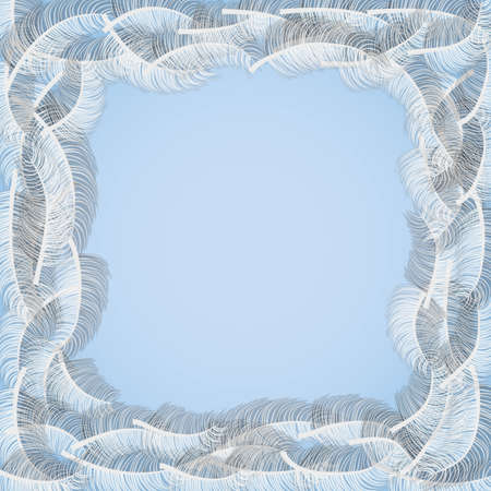 feather boa: feathers frame Illustration