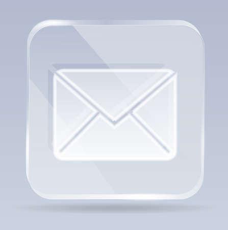 glass envelope icon Vector