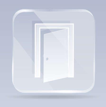 glass exit door icon Vector