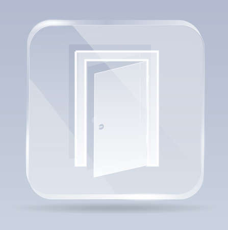 hinges: glass exit door icon