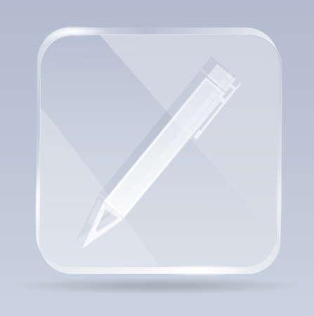 glass pen icon Vector