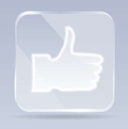 glass thumb up icon Vector