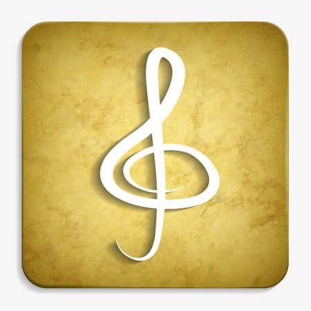 clef parchment icon