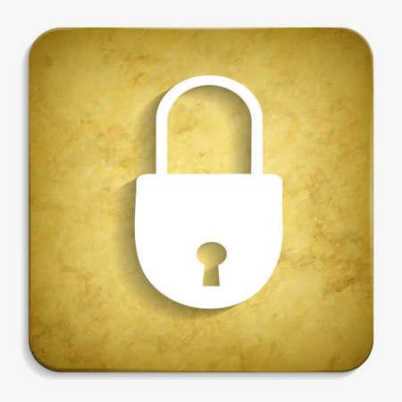 closed lock: closed lock parchment icon