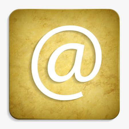 e-mail parchment icon Stock Vector - 25521217