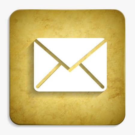 envelope parchment icon Illustration