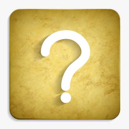 question parchment icon