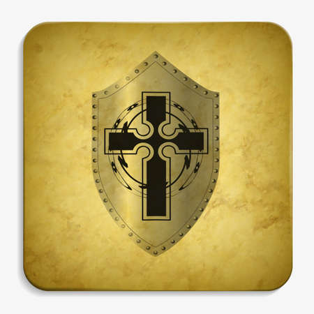 shield parchment icon