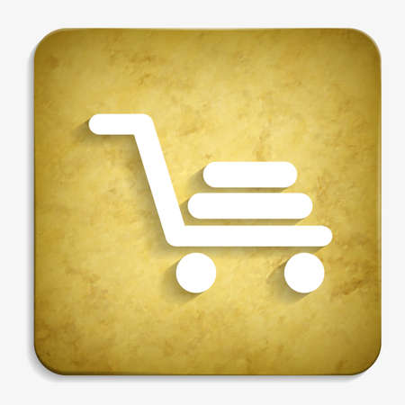 shopping cart parchment icon Illustration