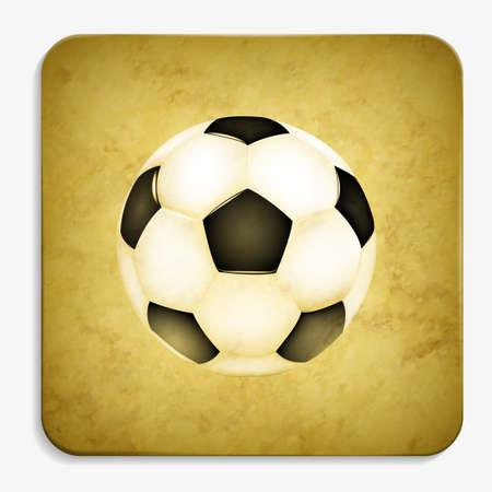 soccer parchment icon Illustration