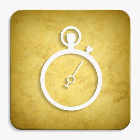 stopwatch parchment icon Illustration