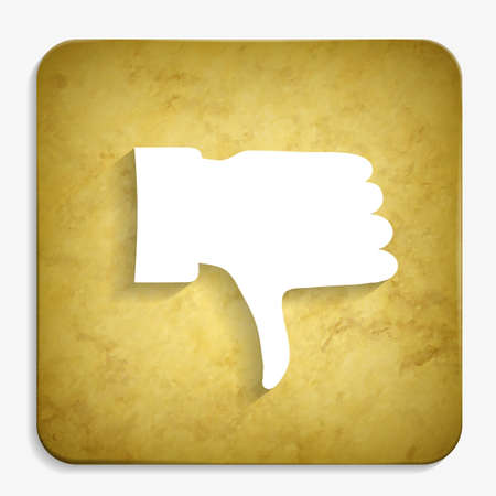 thumb down parchment icon