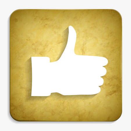 thumb up parchment icon