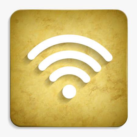 wi fi parchment icon