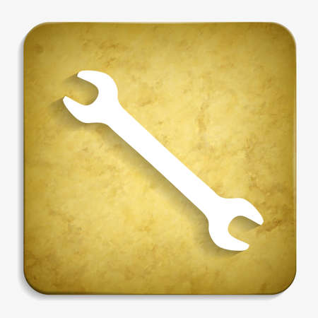 wrench parchment icon Illustration