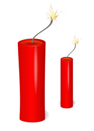 flaming dynamite