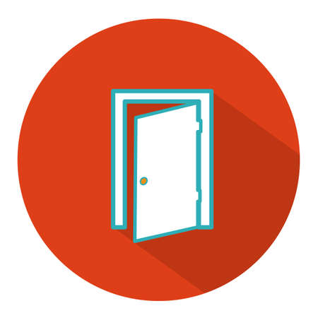 hinges: exit door icon Illustration