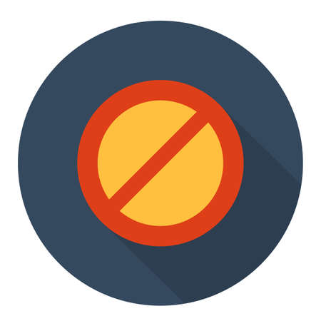 allowed: Not Allowed icon Illustration