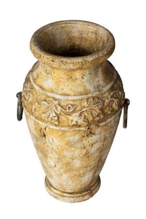 Antique vase isolated on white photo