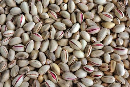 Pile of Greek pistachios, suitable as background