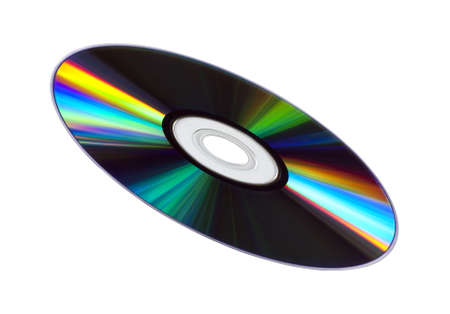 Colourful CDDVD disk isolated on white. photo