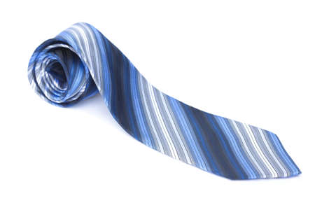 Blue striped tie isolated over a white background. Stock Photo - 7321531