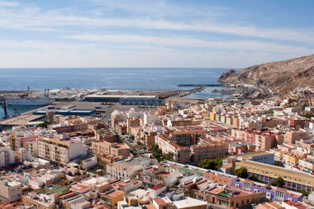 View of the port of Almeria from the Alcazaba fortress.