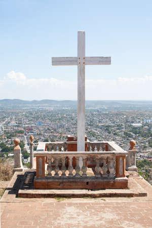 holguin: Loma de la Cruz or Hill of the Cross in Holguin, capital city of the province of Holguin, Cuba.