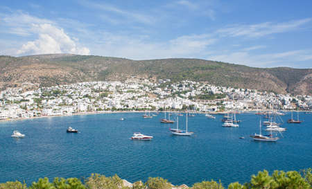 Kumbahce Bay as viewed from Castle of St Peter in Bodrum, Mugla Province, Turkey. Stock Photo - 16159848