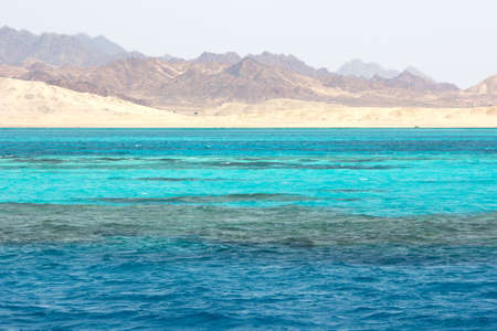 sharm el sheikh: Landscape in Ras Mohammed National Park in the Red Sea with its coral reefs, Egypt  Stock Photo