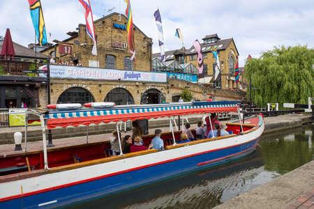 regent: LONDON, UNITED KINGDOM - JULY 20  Camden Lock and Regent Editorial