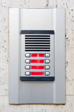 interphone: Intercom system at the entrance of a block of flats