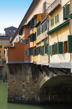 Picturesque Ponte Vecchio bridge in Florence old town, Tuscany, Italy  Stock Photo