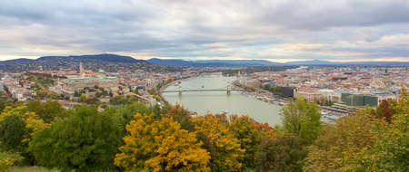 Panoramic skyline view of Budapest, Hungary