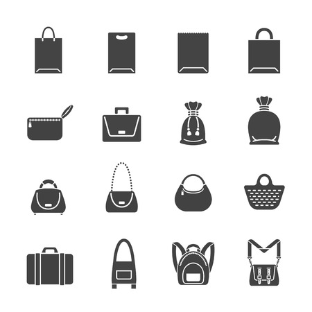 Set of bag icons