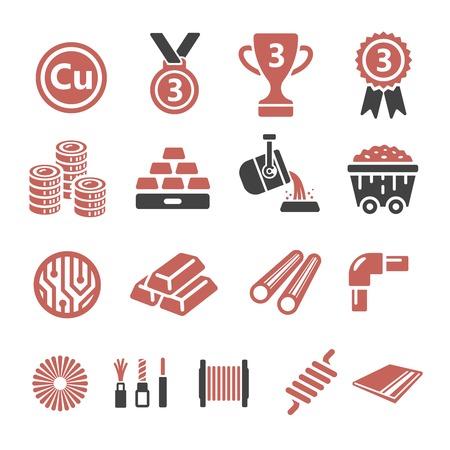 bar magnet: copper icon Illustration