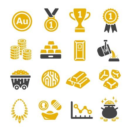 Gold icon. Vektoros illusztráció