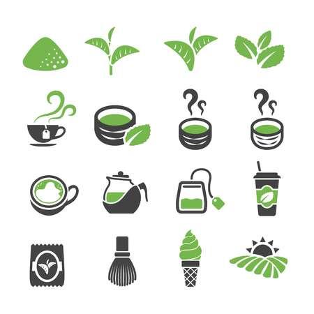 Groene thee. Stock Illustratie