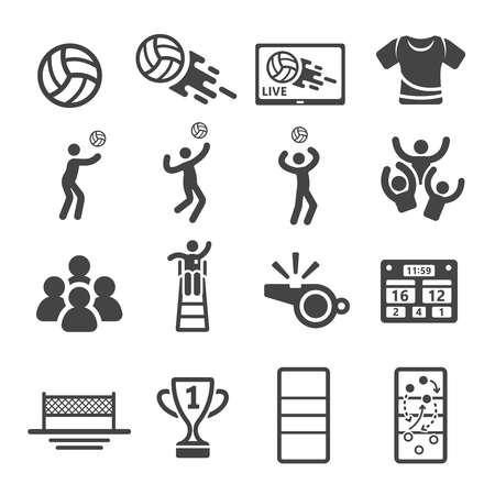 icono de voleibol Ilustración de vector