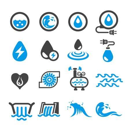 water energy icon Illustration