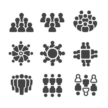 social gathering: group of people,population icon set