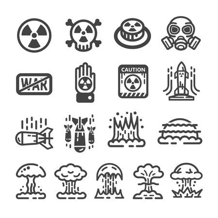 Nuclear war icon.