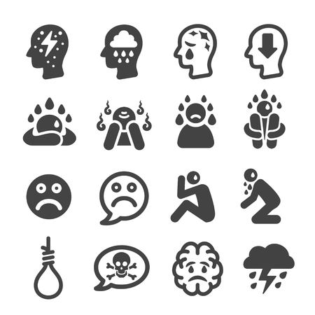 Depressie icoon Stock Illustratie