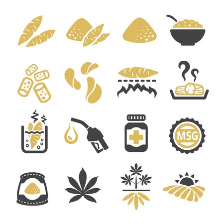cassava icon Illustration
