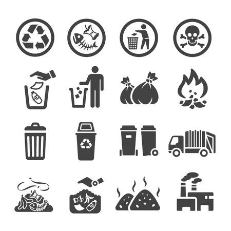 odpady, ikona śmieci
