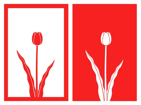isolated red tulip flower,vector illustration