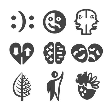 Bipolar disorder icon.