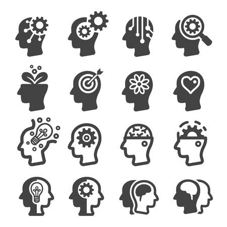 Pensamiento, mente, icono Ilustración de vector
